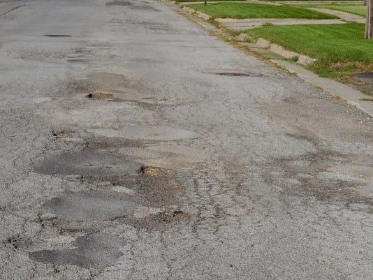 Potholes in Grand Ledge
