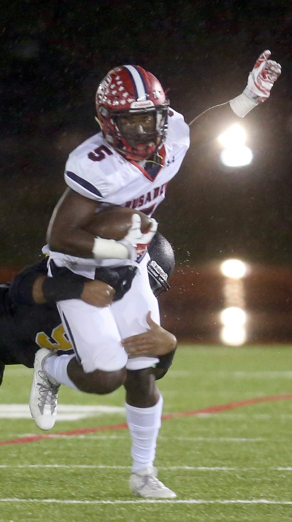 Stepinac's Jamal Dallas is dragged down by St. Anthony's