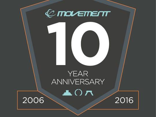 Movement 10-year anniversary logo