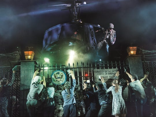 "One of the most memorable scenes from Broadway's ""Miss Saigon."" The epic musical, set during the Vietnam War, is part of Broadway in Cincinnati's 2018-2019 season."