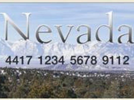 Sample Nevada food stamps card.