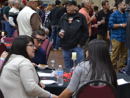 Unexpectedly large crowds waited in lines at the Vines in the Pines Festival Saturday.