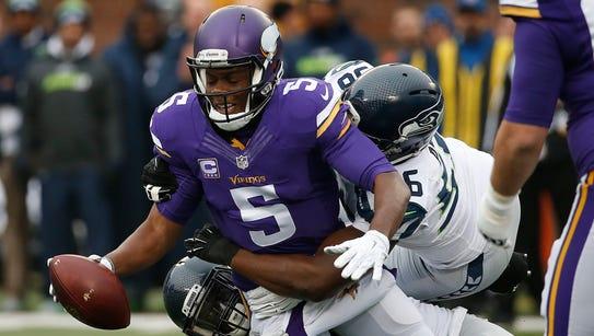 Minnesota Vikings quarterback Teddy Bridgewater (5)