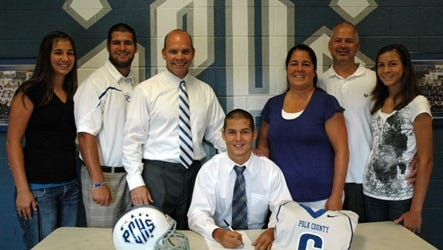 Polk County's Andre Overholt signed out of high school with Brevard College.