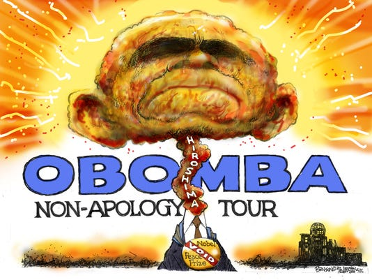 Obama won't apologize for of nuking Hiroshima's civilians