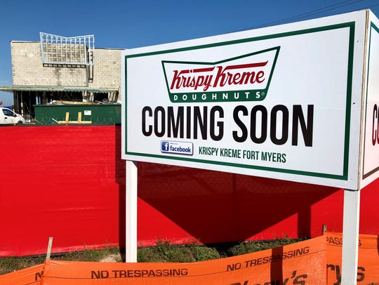 Southwest Florida's first Krispy Kreme is nearing completion