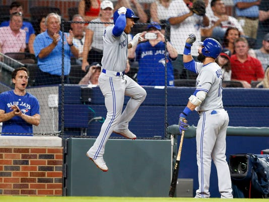 USP MLB: TORONTO BLUE JAYS AT ATLANTA BRAVES S BBN ATL TOR USA GA