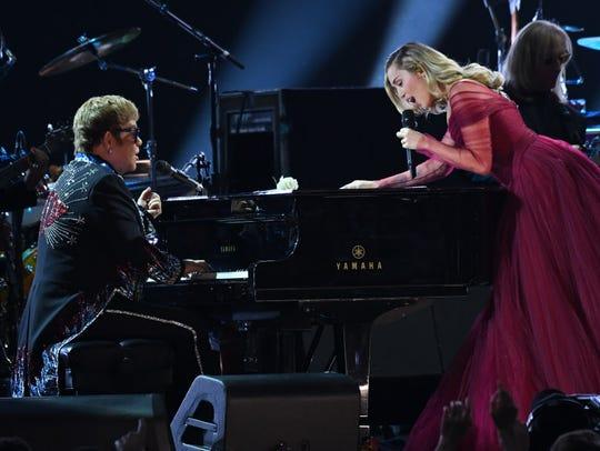 Elton John and Miley Cyrus.