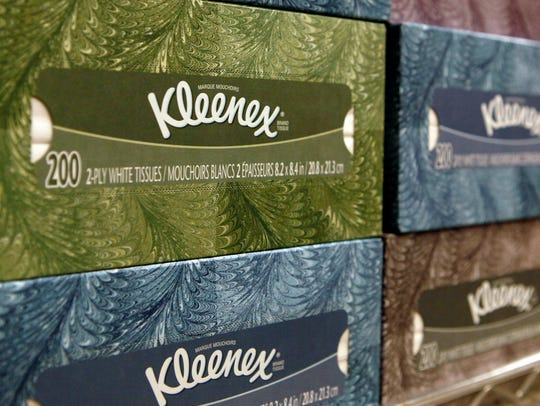 Kleenex is one of Kimberly-Clark's best known consumer brands.  (AP Photo/Jeff Chiu, File)