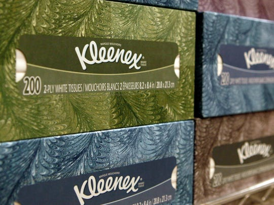 Kleenex is one of Kimberly-Clark's top brands.
