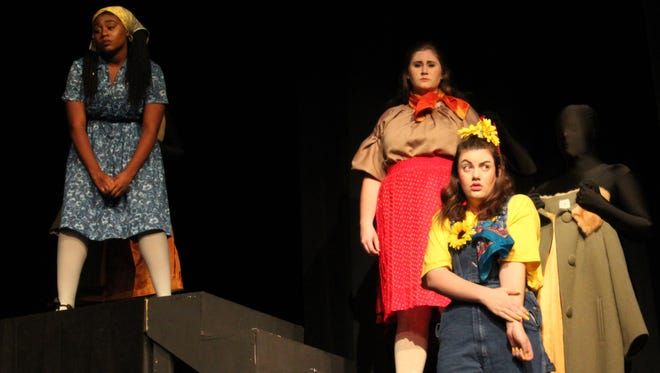 "Three triplets go on separate adventures, then reunite as they span age 10 to 31 in ""This Girl Laughs, This Girl Cries, This Girls Does Nothing,"" a Hardin-Simmons University theater production."