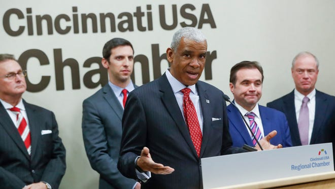 SORTA CEO Dwight Ferrell speaks during a news conference, Tuesday, Jan. 30, 2018, in Cincinnati.