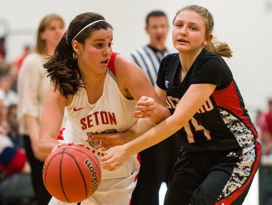 Seton Catholic Prep's Kendall Krick (#33)gets around