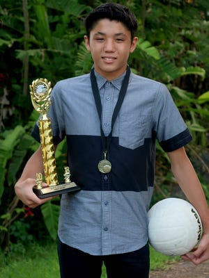 Xander Addison Santos Duenas was chosen as Most Valuable of the Luis P. Untalan Middle School boys volleyball team.