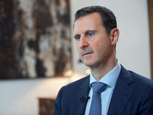 EPA SYRIA PRESIDENT ASSAD INTERVIEW POL GOVERNMENT SYR