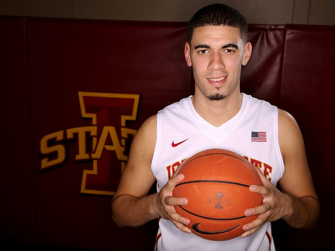 Iowa State's Georges Niang poses for a picture during Iowa State men's basketball media day at the Sukup Basketball Complex in Ames, Iowa on Thursday, Oct. 10, 2013.