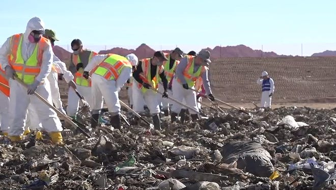 Phoenix police began a search in the sprawling SR 85 landfill on Oct. 23, 2017, looking for the remains of Christine Mustafa, a 34-year-old mother of two who was last seen on May 10 after leaving her job at a Walgreens pharmacy.