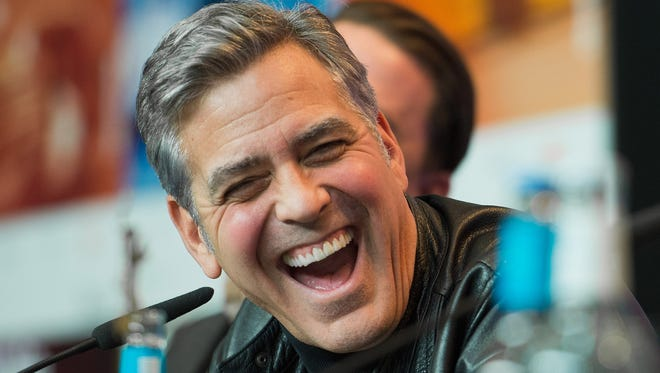 "George Clooney, here in Berlin in February, is supporting Clinton, and is doing a fundraiser for her, even though he has nice things to say about Sanders. He dismisses Trump as a ""xenophobic fascist."""