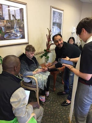 Roman and Francis Suri were married at one of Christiana Care's rehab facilities. Francis is battling stage four lung cancer.