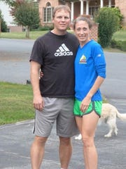 Chambersburg's Mike and Jill Hazelton are shown here after running for 1,000 straight days. They reached a new milestone on Jan. 1: Four straight years of running.
