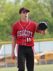 Junior Dominic Ruwe is called into duty against MVCA May 18.