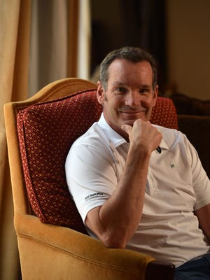 Erik Kramer, a former National Football League quarterback, poses for a portrait at his home in Agoura Hills. The death of Kramer's son, Griffen, 18, of a heroin overdose in October of 2011, changed his life.
