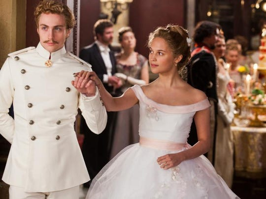 """Aaron Taylor-Johnson and Alicia Vikander are pictured in a scene from the film """"Anna Karenina."""""""