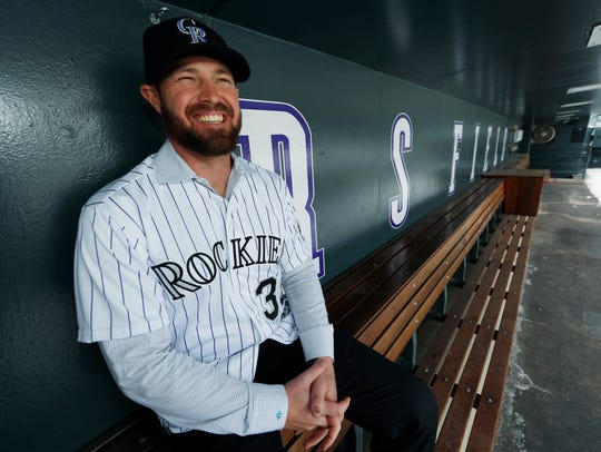 Newly signed Colorado Rockies relief pitcher Mike Dunn