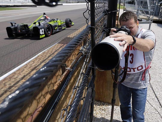 IndyStar photographer Mykal McEldowney will experience his first Indianapolis 500 this year.