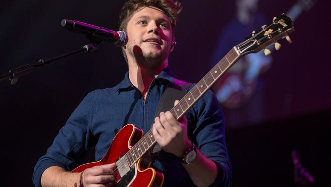 Niall Horan performs during the annual WZPL Birthday Bash, Indiana Farmers Coliseum, Indianapolis, Friday, June 23, 2017.