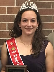 American Honey Queen Kimberly Kester was presented