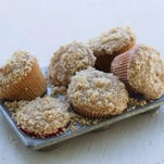 "Sprouted wheat muffins with steusel topping in Concord, N.H. Peter Reinhart's new book, ""Bread Revolution"" dives into the rising trends of sprouted and whole grains, as well as heirloom flours."