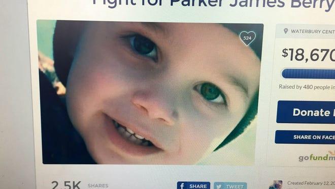 A photo of Parker Berry as seen on an online fundraiser through GoFundMe.com.