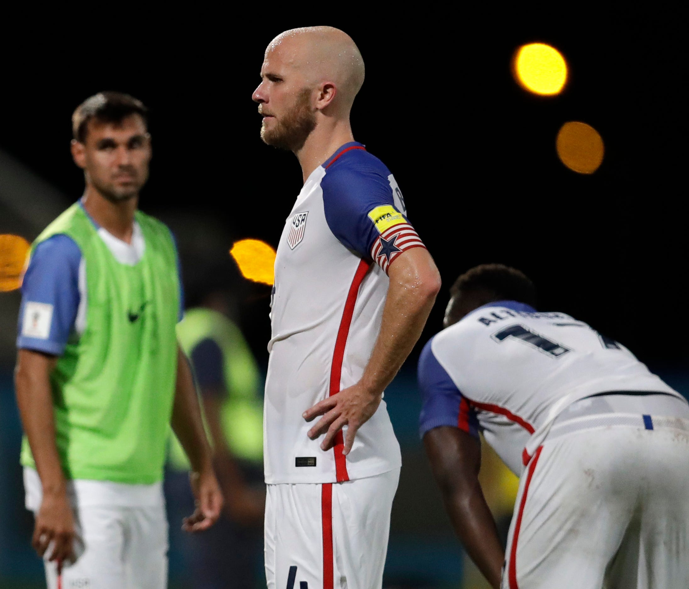 Michael Bradley reacts after losing to Trinidad and Tobago.