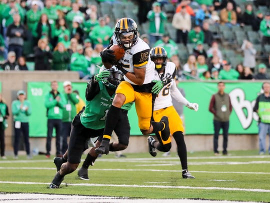 Southern Miss Golden Eagles wide receiver Allenzae
