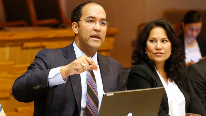 Will Hurd during a stop in El Paso (3/31/16) during discussion of the Mission Trial Planning Commission meeting.