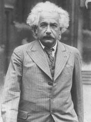 Albert Einstein is shown in this undated photo from 1933, the year he came to the United States.