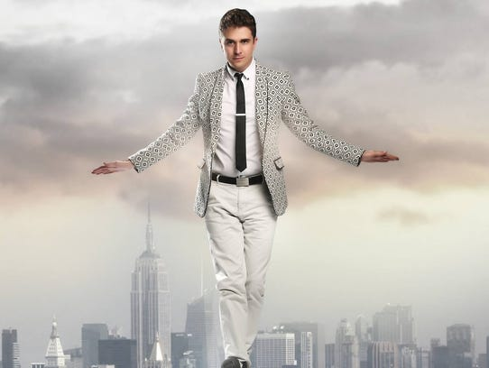 Adam Trent will perform his illusions on stage at the Saenger Theatre on Monday.
