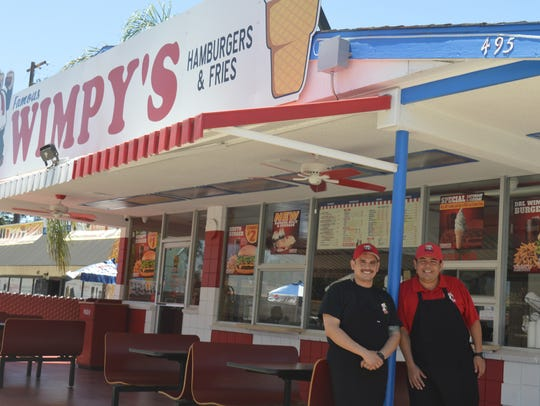 Brothers Willy, left, and Duval Espinoza are co-owners of Wimpy's Hamburgers with locations in Dinuba and Tulare. The brothers bought the Tulare location two years ago and opened the Dinuba restaurant in January. They are planning to open a Downtown Visalia location.