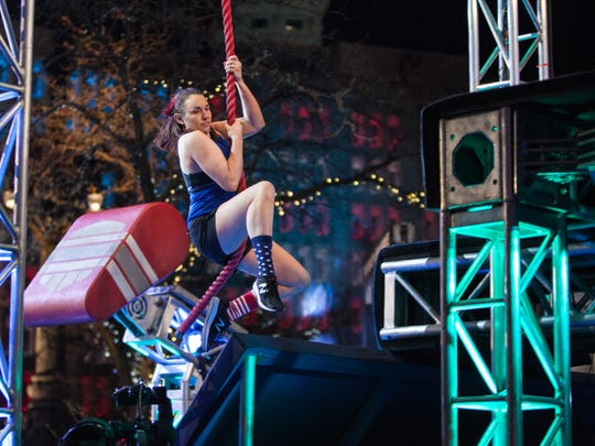 "Ninjas compete on the Indianapolis qualifying round of ""American Ninja Warrior"" on Sunday."