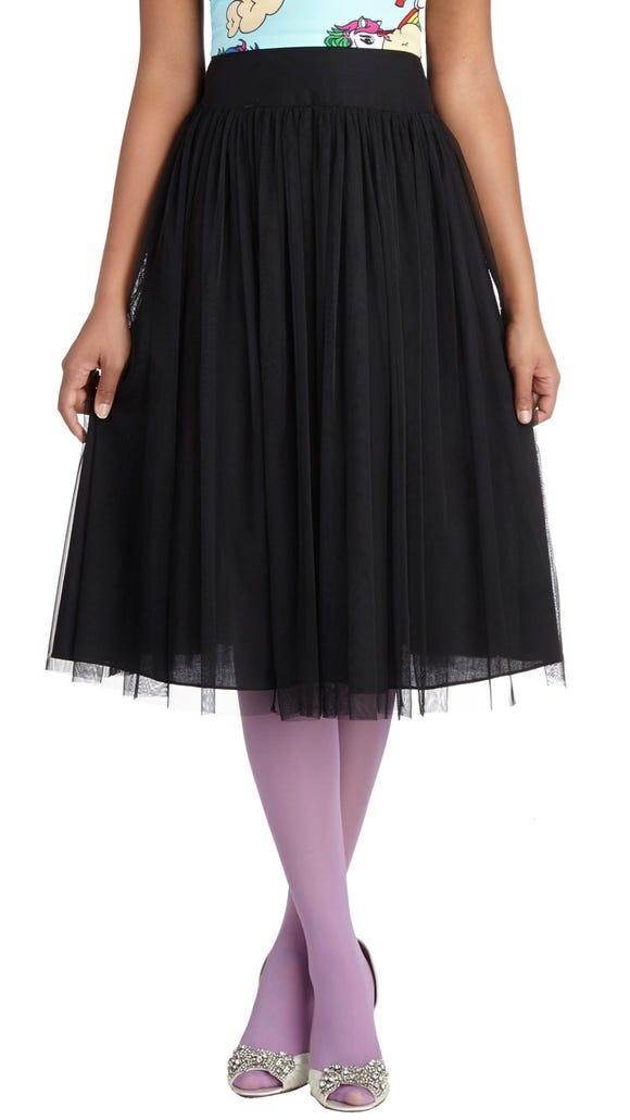 Midnight ballerina skirt ($65 at www.modcloth.com).