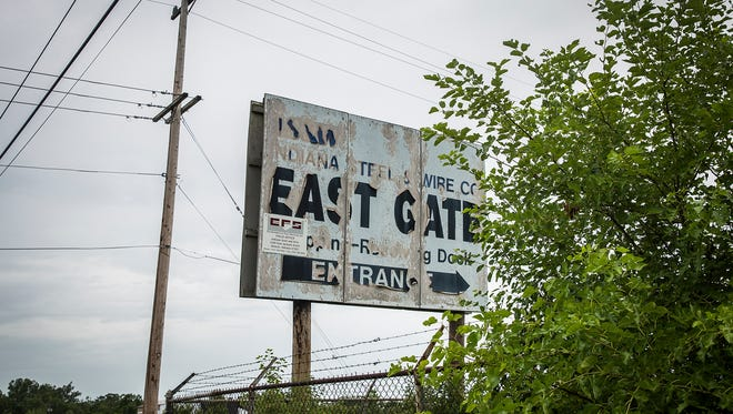 The former Indiana Steel and Wire property on State Road 32 Wednesday.