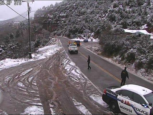 State Route 89A closure