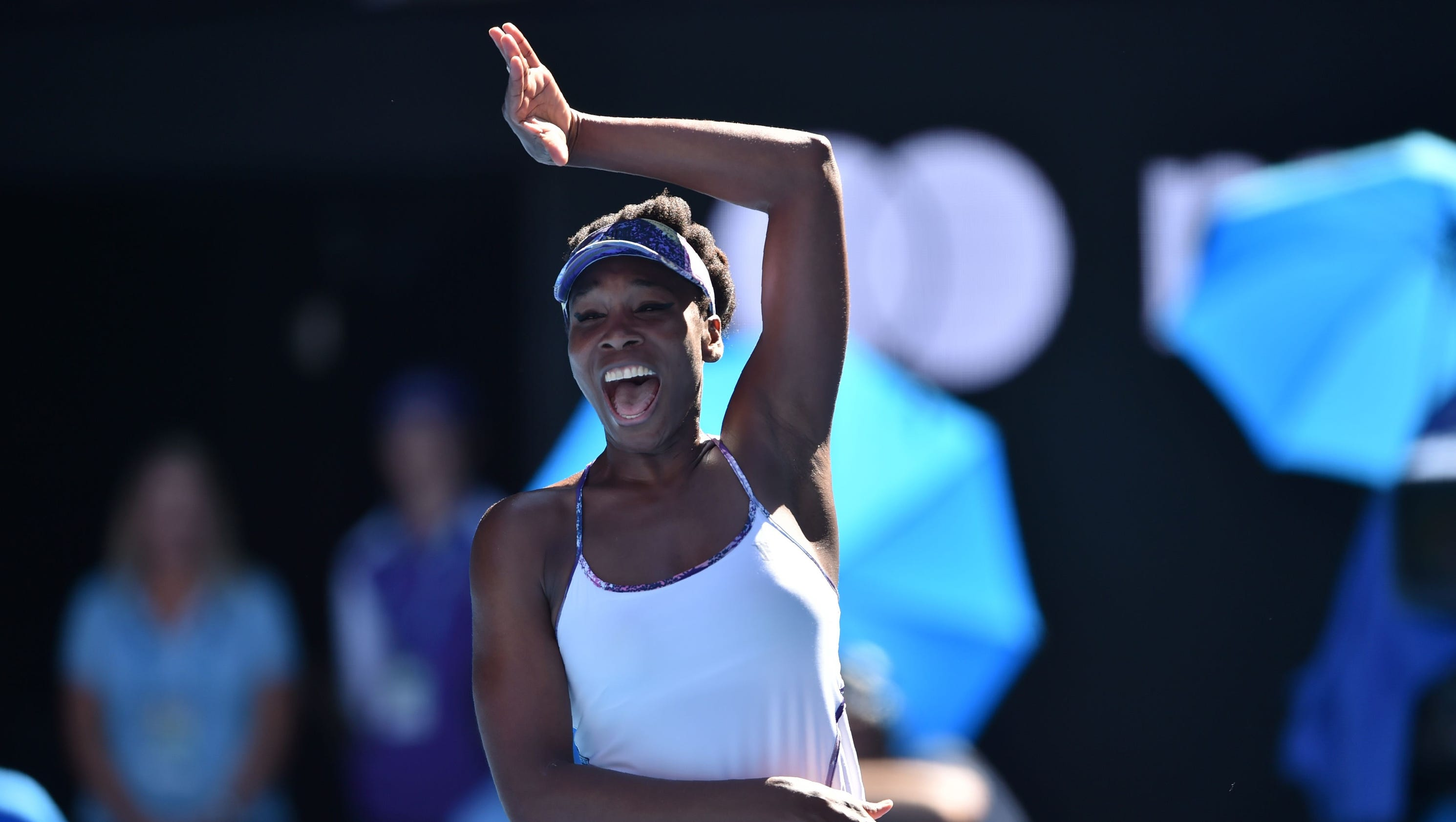 Venus Williams can't contain herself after reaching Australian Open ...