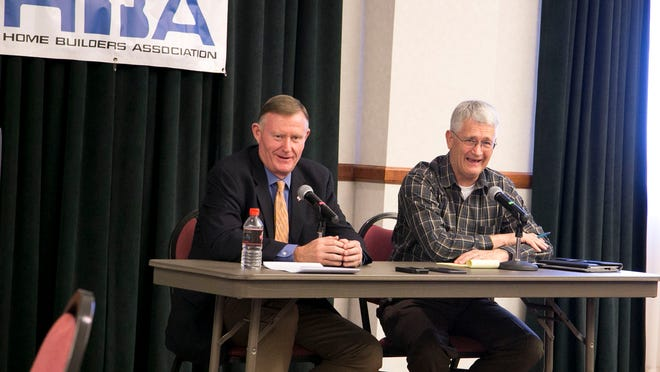 State Rep. John Westwood and State Sen. Evan Vickers spoke Thursday at the Iron County Home Builders Association Luncheon following the recently completed Legislative session in Salt Lake City.