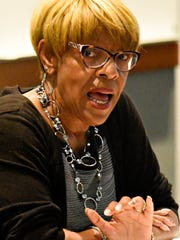 In this file photo, Democrat Carol Hill-Evans discusses