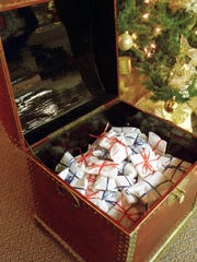The old toy chest full of trinkets for kids, an icon of the Ayres Tea Room