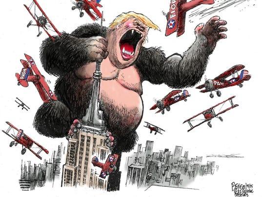 Trumps Face On Empire Com State Com Building