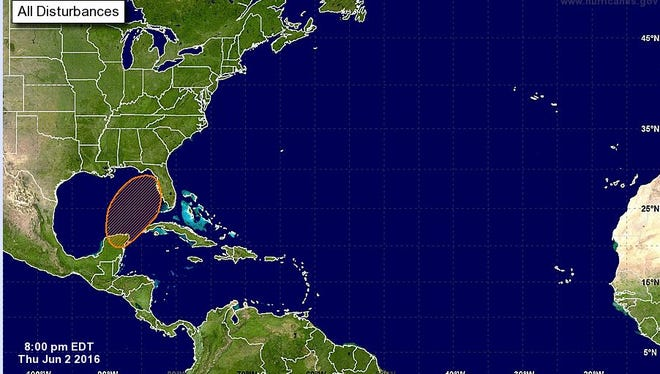 An outlook from NOAA shows the chances of tropical development.