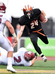 Greenback's Josh Edwards (24) gets by Cornersville's